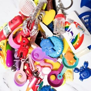 Vintage Crafting Lot Broken Bell Charms, Misc Toys